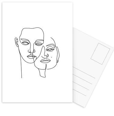 One -Postkartenset