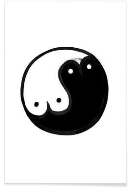 Boob Yin Yang Poster
