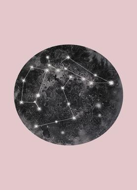 Constellation Pink Canvas Print