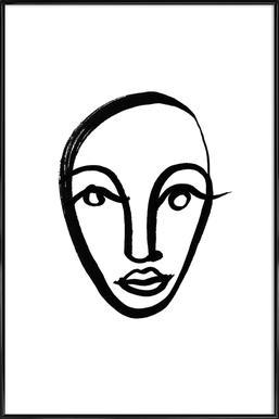 Faces 4 Poster im Kunststoffrahmen