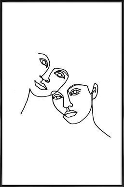 Close Poster im Kunststoffrahmen