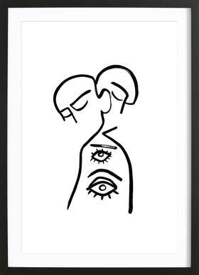 Eye Want You -Bild mit Holzrahmen