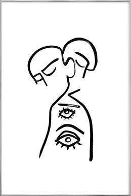 Eye Want You Poster im Alurahmen
