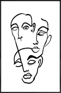 Faces 12 Poster im Kunststoffrahmen