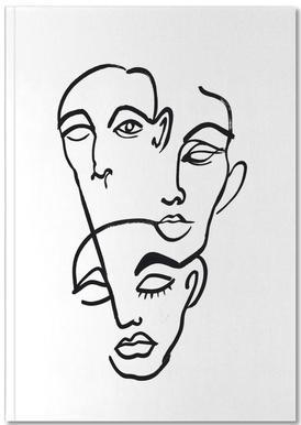 Faces 12 Notizbuch