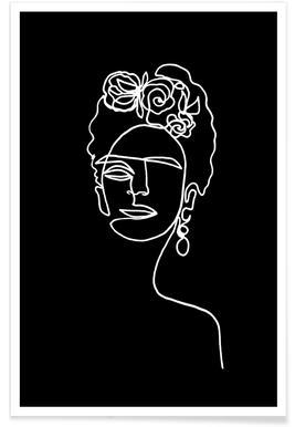 Frida Kahlo BW Poster