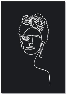 Frida Kahlo BW Notizblock