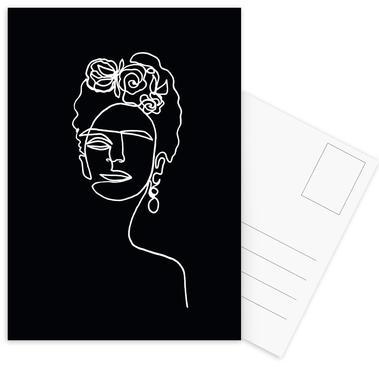 Frida Kahlo BW Postkartenset