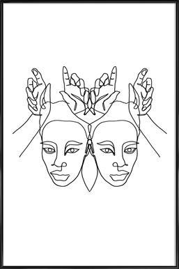 Luanne Poster im Kunststoffrahmen