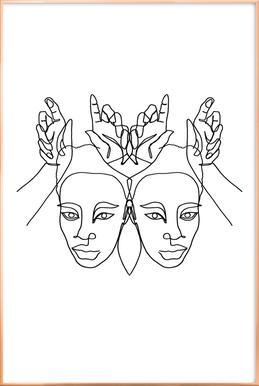 Luanne -Poster im Alurahmen