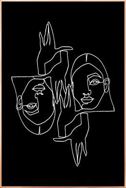 Mila BW -Poster im Alurahmen