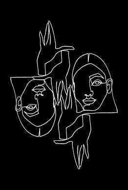 Mila BW -Acrylglasbild