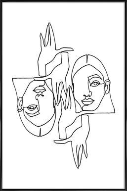 Mila Poster im Kunststoffrahmen