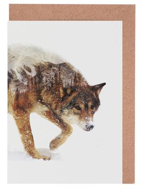 Arctic Wolf Greeting Card Set
