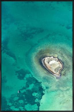 Shark Bay 7 affiche encadrée