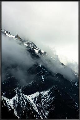 Misty Mountains Affiche sous cadre standard