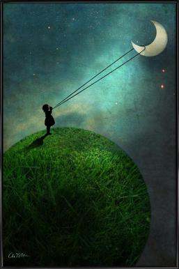 Chasing The Moon Affiche sous cadre standard