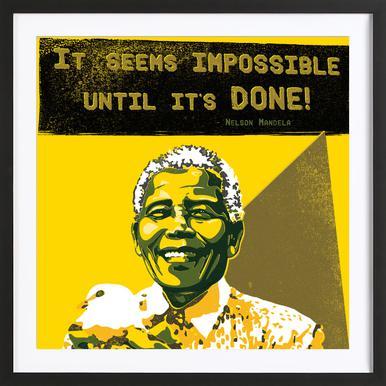 Nelson Mandela Poster in houten lijst