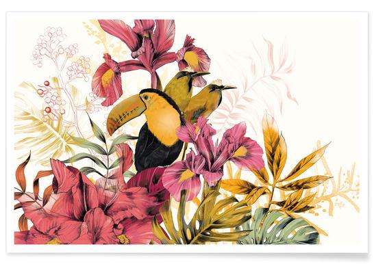 Tropical Garden Toucan Poster