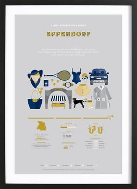 Eppendorf Poster in Wooden Frame