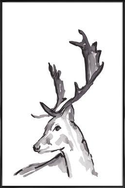 Deer Framed Poster