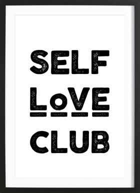 Peace Selflove Club Poster in Wooden Frame