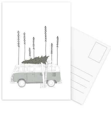 Winter Van Postcard Set