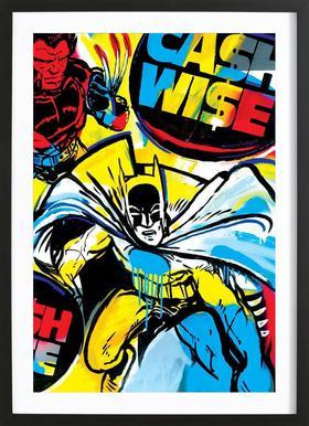 Cash Wise Poster in houten lijst