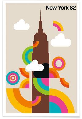 New York 82 Poster