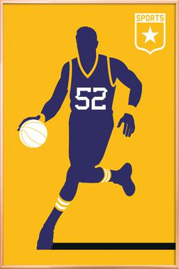 Basketball Poster in Aluminium Frame