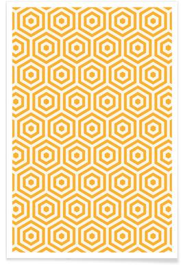 Yellow Beehive Poster
