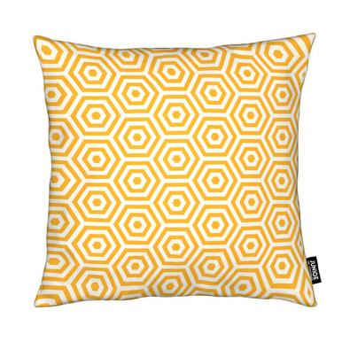 Yellow Beehive Cushion