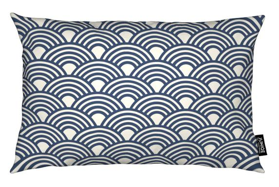 Eastern Waves Dark Cushion