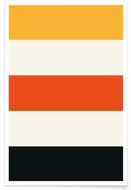 Rayures noires et orange affiche