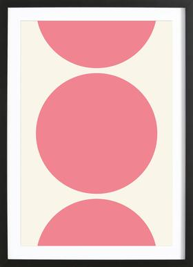 Pink Moon Poster in Wooden Frame