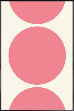 Pink Moon -Bild mit Kunststoffrahmen