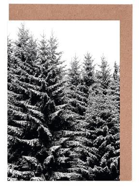 Snowy Christmas Trees Greeting Card Set