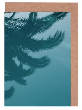 Palms In The Pool Greeting Card Set