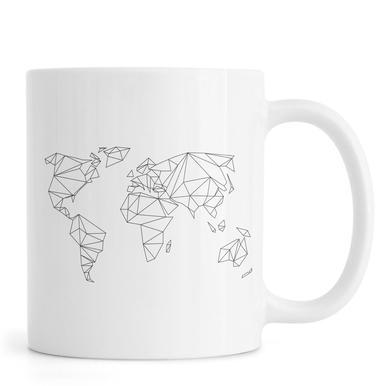 Geometrical World - white Mok