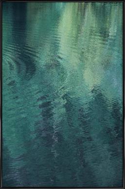 Forest In The Lake -Bild mit Kunststoffrahmen