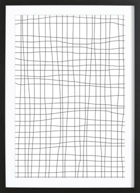 Grid Framed Print