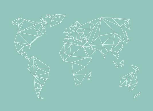 Buy world map canvas prints and art online juniqe uk geometrical world green studio nahili canvas print gumiabroncs Choice Image
