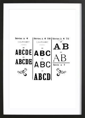 ABCD ingelijste print