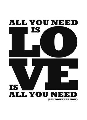 All you need is love canvas doek