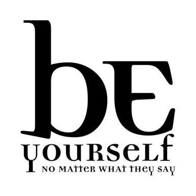 Be yourself canvas doek
