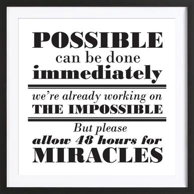 Possible Impossible Miracles ingelijste print
