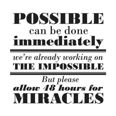 Possible Impossible Miracles canvas doek
