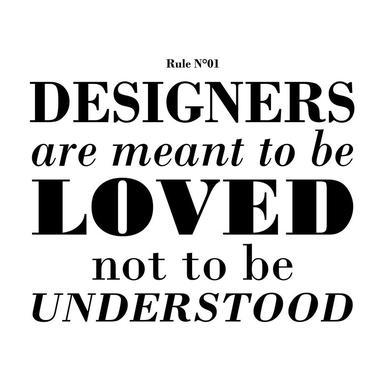 Rule 01 - Designer are meant.. acrylglas print