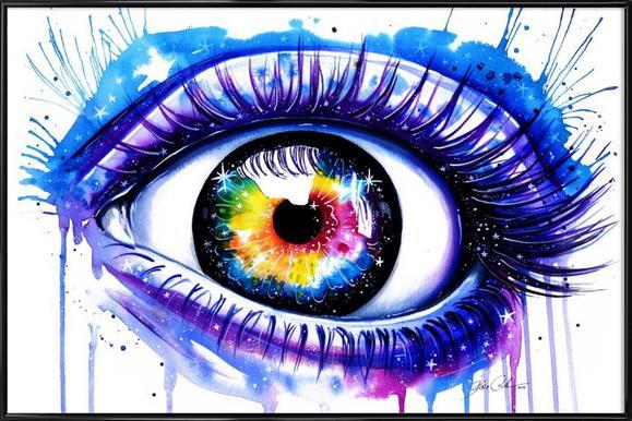 Galaxy Eye Affiche sous cadre standard