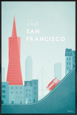 San Francisco affiche encadrée
